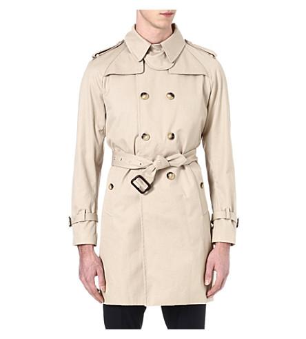 SANDRO Cotton trench coat (Beige