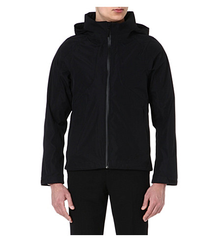 SANDRO Waterfall technical parka (Black