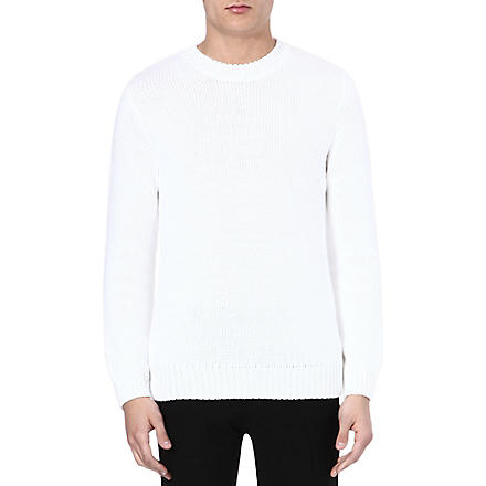 SANDRO Pulshoe knitted jumper (White