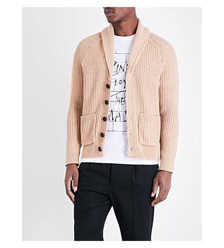 SANDRO Knitted cardigan (Beige