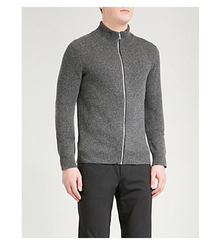 SANDRO Funnel-neck wool-blend jumper (Grey