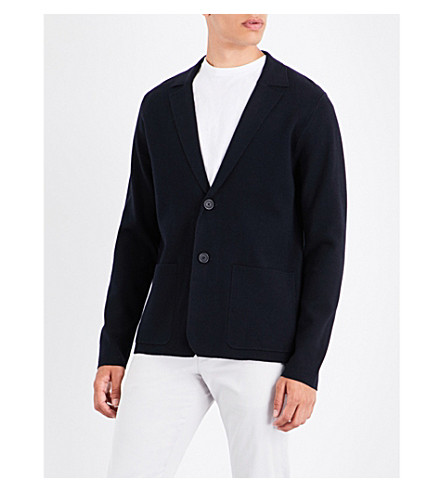 SANDRO Milano knitted jacket (Navy+blue