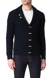 SANDRO Sailor knitted shawl-collar cardigan