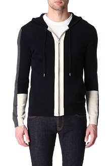 SANDRO Graphic knitted zip-up hoody
