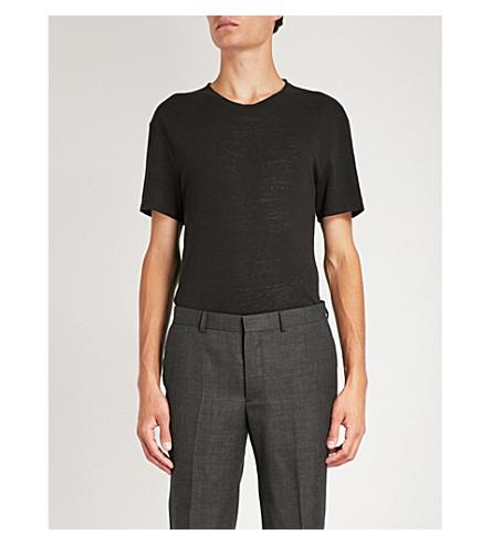 SANDRO Linen t-shirt (Black