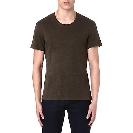 SANDRO Linen t-shirt (Khaki