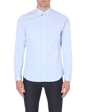 SANDRO Slim-fit cotton shirt