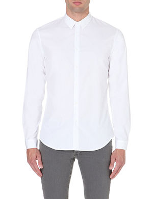 SANDRO Slim-fit cotton shirt