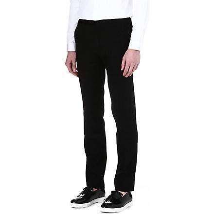 SANDRO Tapered wool suit trousers (Black