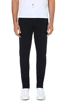 SANDRO Tapered cotton-blend jogging bottoms