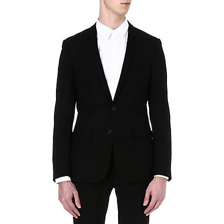 SANDRO Single-breasted wool suit jacket (Black