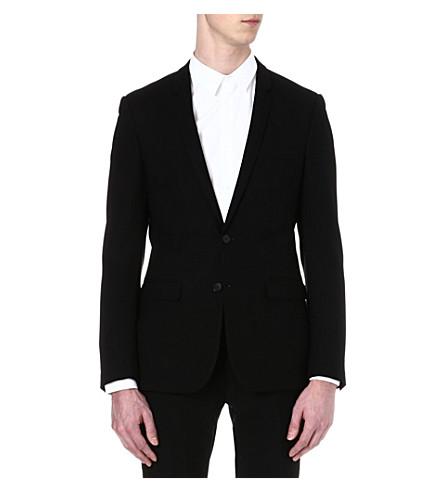 SANDRO Single-breasted wool suit jacket (Black