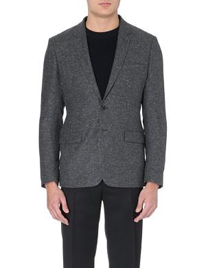 SANDRO Speckled woven blazer