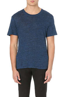SANDRO Heather linen t-shirt