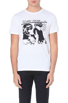SANDRO Sonic Youth cotton-jersey t-shirt