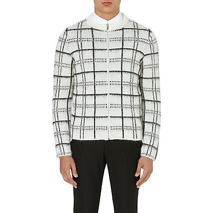 SANDRO Gordon patterned cardigan (White