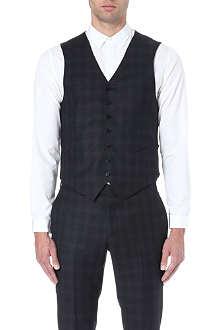 SANDRO Flannel check waistcoat