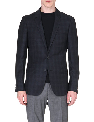 SANDRO Checked flannel suit jacket