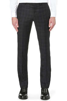 SANDRO Check wool trousers