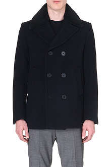 SANDRO Officer wool-blend peacoat