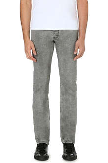 SANDRO Paint slim-fit straight jeans