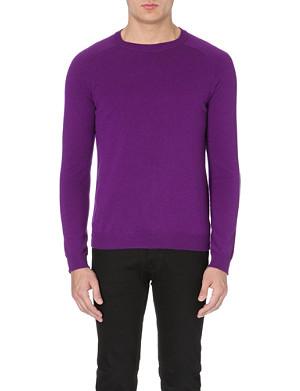 SANDRO Round neck wool-cashmere sweater