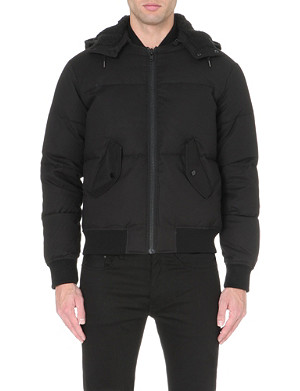 SANDRO Quilted bomber jacket