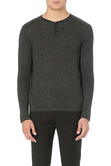 SANDRO Contrast-trim wool jumper