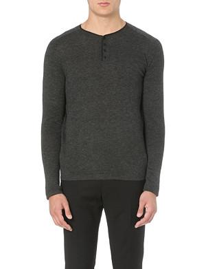 SANDRO Contrast-trim wool jumper