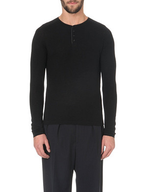 SANDRO Crew-neck fine-wool sweater