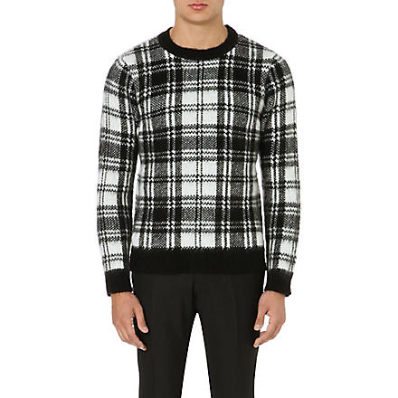 SANDRO Thurston checked jumper (Black