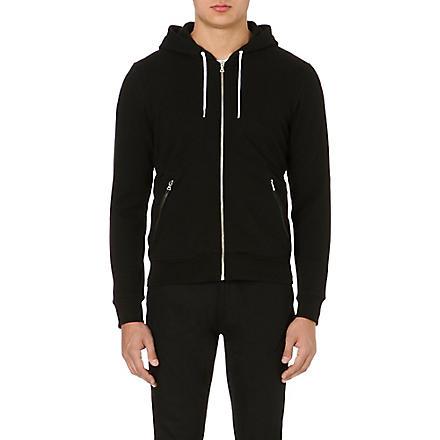 SANDRO Troop jersey hoody (Black