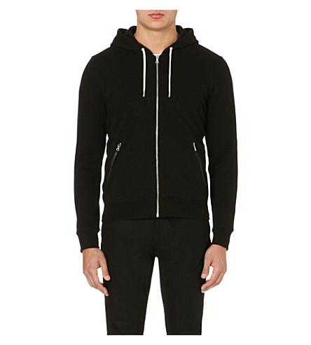 SANDRO Troop jersey hoody (Black