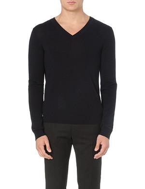 SANDRO V-neck wool jumper