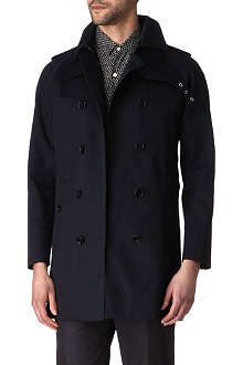 SANDRO Bounded double-breasted coat