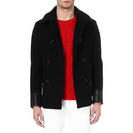 SANDRO Mariner pea coat (Black