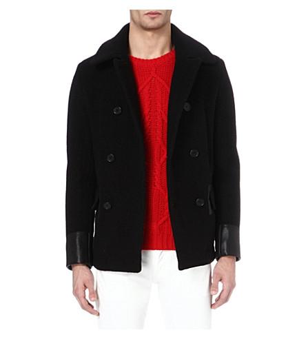 SANDRO Mariner pea coat (Black