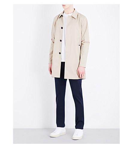 SANDRO Single-breasted cotton-blend coat (Light+beige