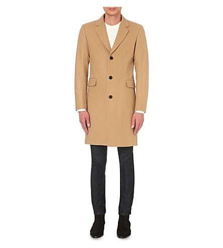 SANDRO Wool-blend coat (Beige