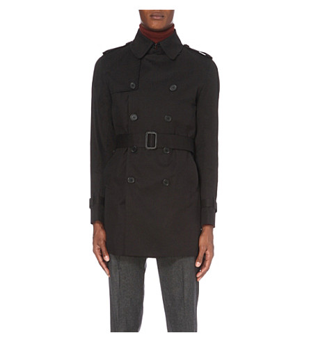 SANDRO Cotton trench coat (Black