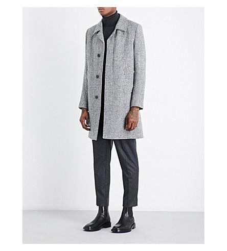 SANDRO Harris Tweed cool coat (Mocked+grey