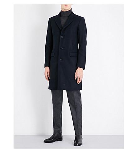 coat SANDRO wool Marine SANDRO blend Single breasted Single 4fYHfF