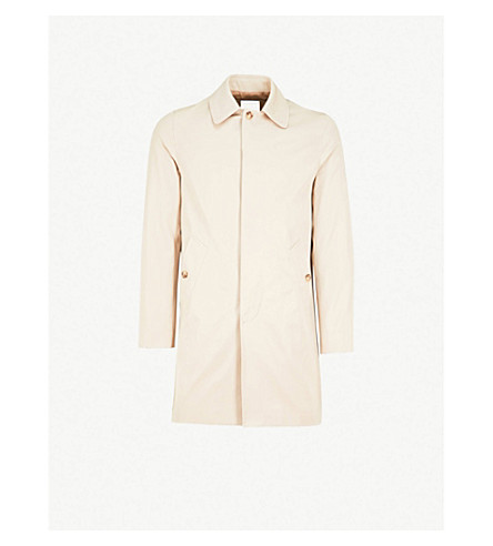 SANDRO Single-breasted cotton mac (Beige