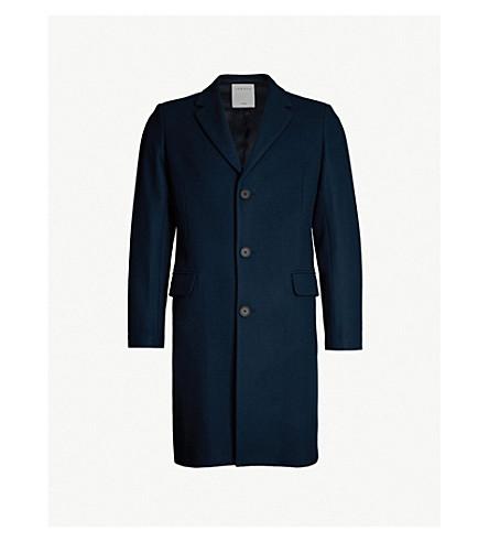 SANDRO Tailored wool-blend coat (Bleu