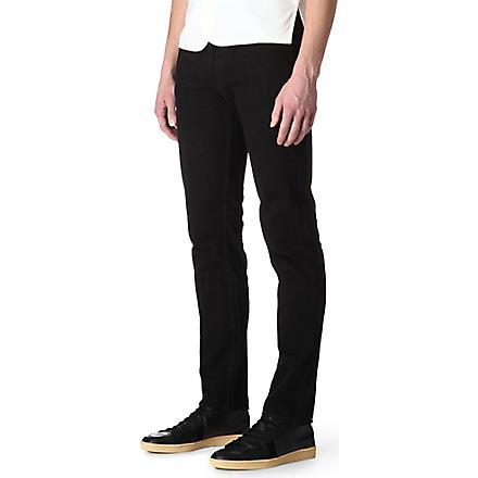 SANDRO Overdyed regular-fit straight-leg jeans (Black