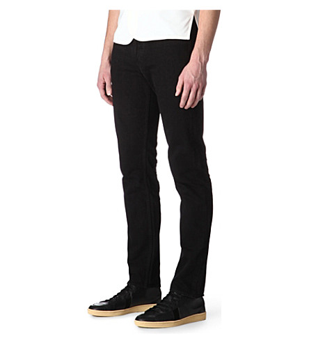 SANDRO Overdyed regular-fit straight-leg jeans (Black