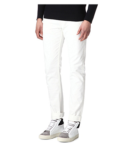 SANDRO Surf slim-fit straight jeans (White