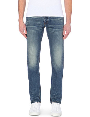 SANDRO Paint slim-fit tapered jeans