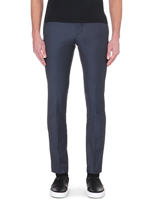 SANDRO Slim tapered wool trousers