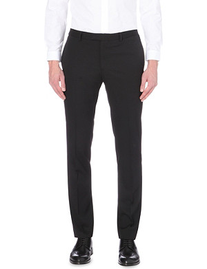 SANDRO Slim-fit tapered wool trousers